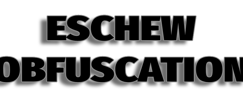 Eschew Obfuscation Logo Text Only BW
