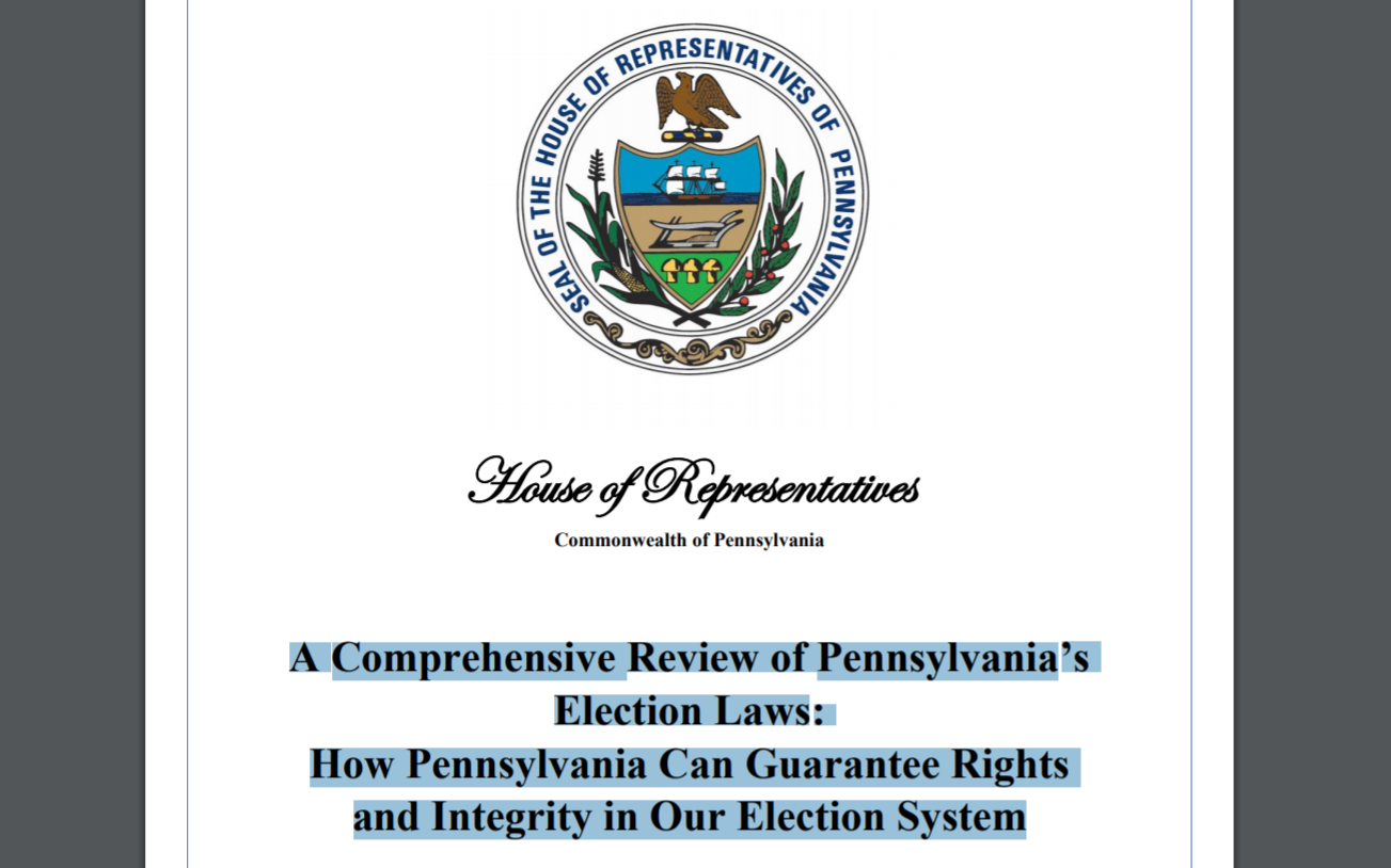 A New Pennsylvania Election Report and Petition for Audit