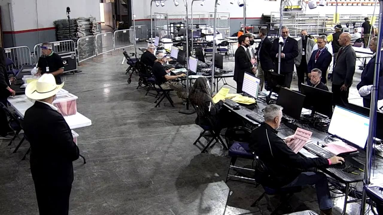 PA Election Integrity Delegation Tours Audit in Maricopa, AZ